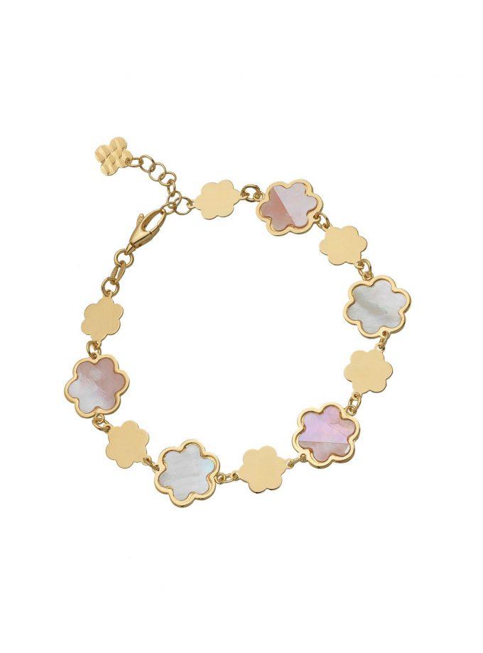 Bassi Italian Jewels 18kt Mother Of Pearl Girl Woman Jewellery Mpn104br