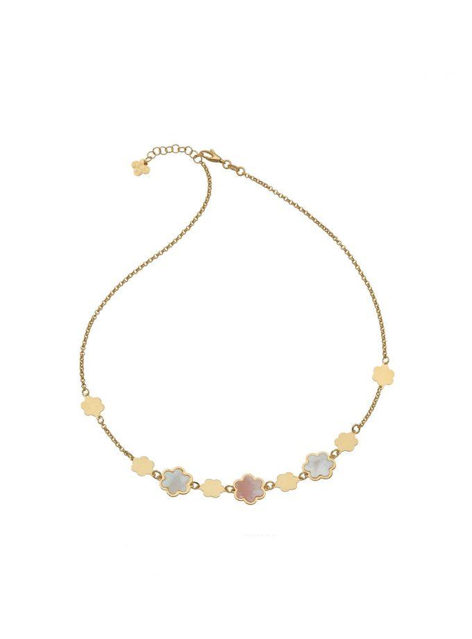 Bassi Italian Jewels 18kt Mother Of Pearl Girl Woman Jewellery Mpn104cl