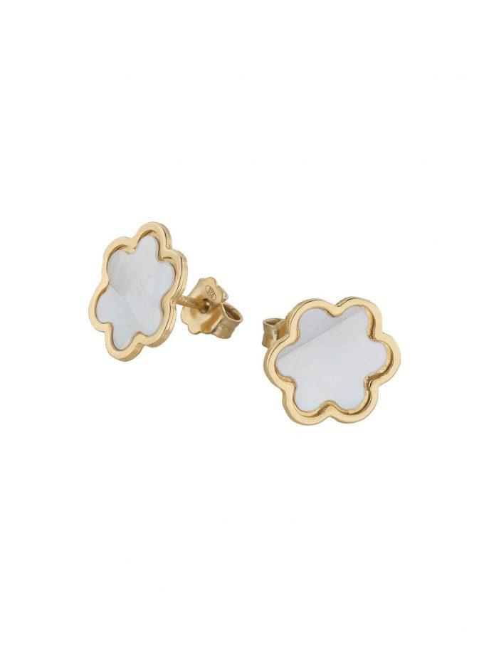 Bassi Italian Jewels 18kt Mother Of Pearl Girl Woman Jewellery Mpn104or