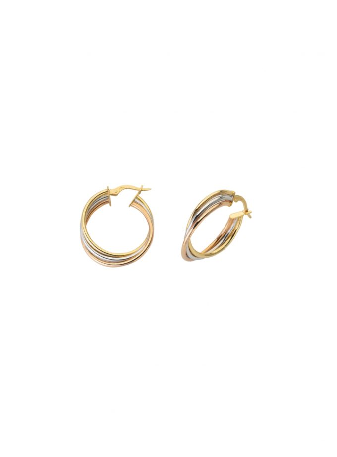 Bassi Italian Jewels 18kt Jewelry Vicenza Italy 20oc31513c 3color Earrings Top Quality