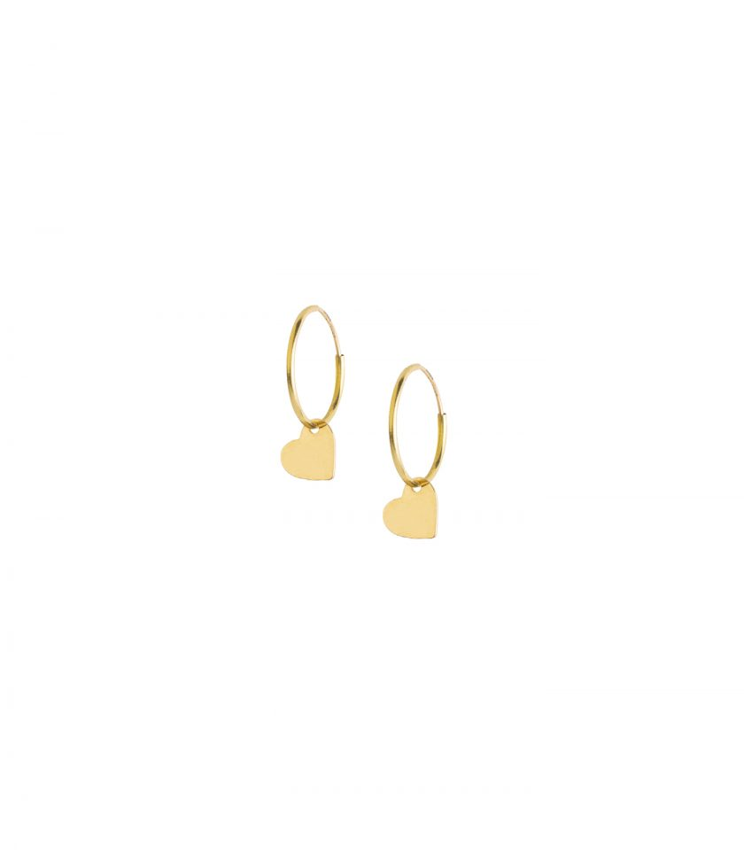 Bassi Italian Jewels Earrings Orecchini Heart Cuore Bijoux Real Gold Ultraight 18kt Jewelry Vicenza Made In Italy