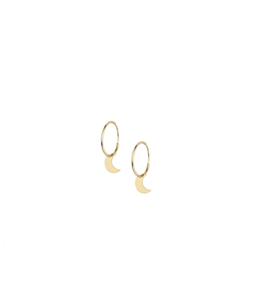 Bassi Italian Jewels Made In Italy Italy Moon Luna Pendent Drop Earrings Vicenza Vicenza Bijoux Gold 18kt