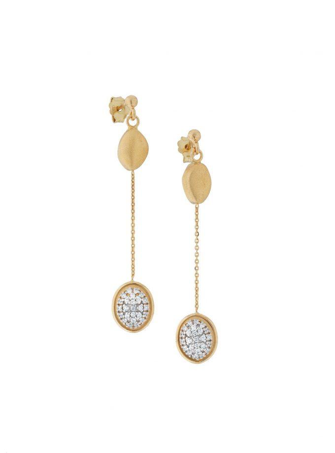 Bassi Gold Diamond Earrings Pep02or
