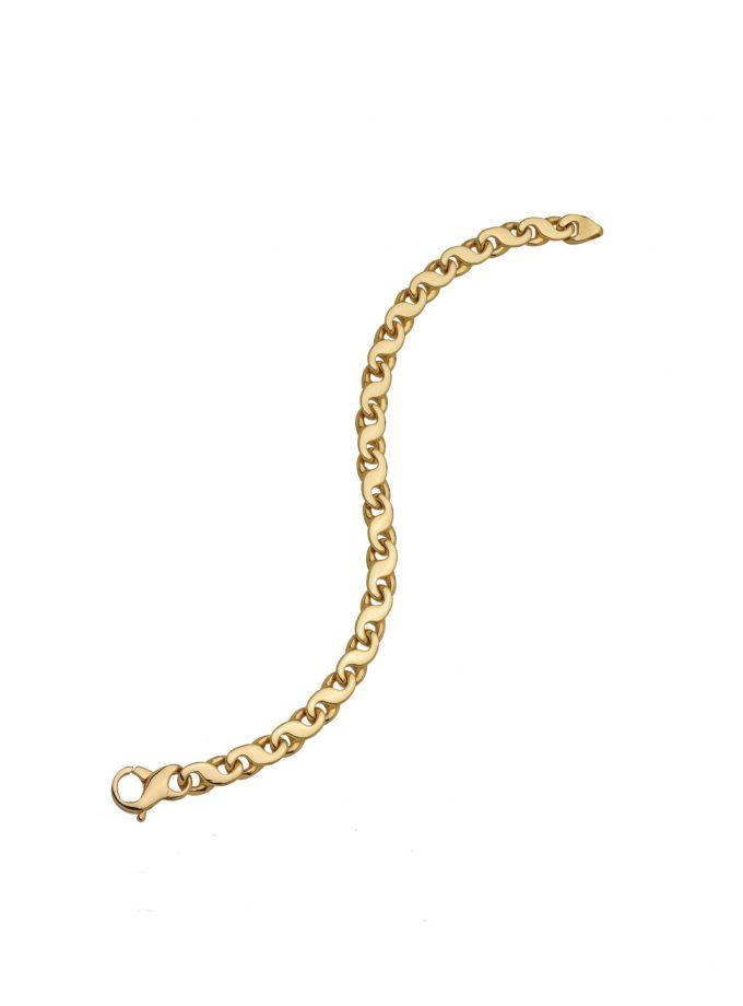 Bassi Yellow.gold Oro Giallo 18kt Bracciale Massiccio Solid Gold 24213 Italy