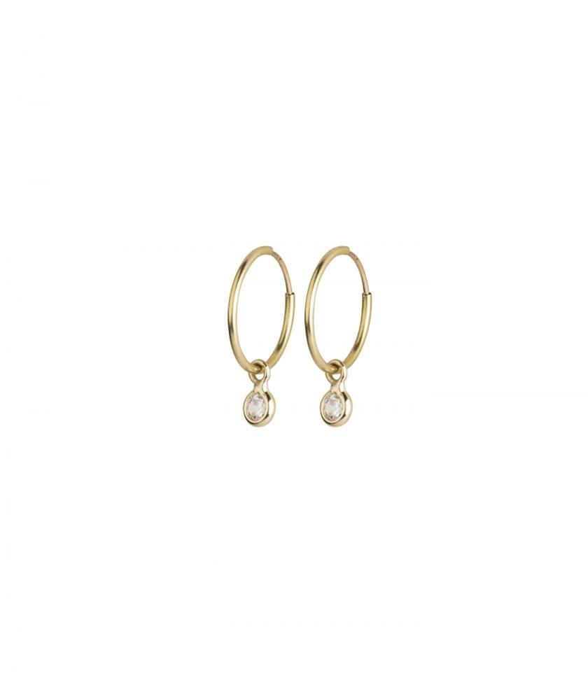 Bassi Italian Jewels Bassi Srl Italy Zirconia 18kt Earrings Drop Italy