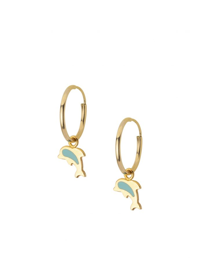 Dolphin Delfino Orecchini Teen Made In Italy 18kt Earrings Jewellery Bassi Italian Jewelsbassi