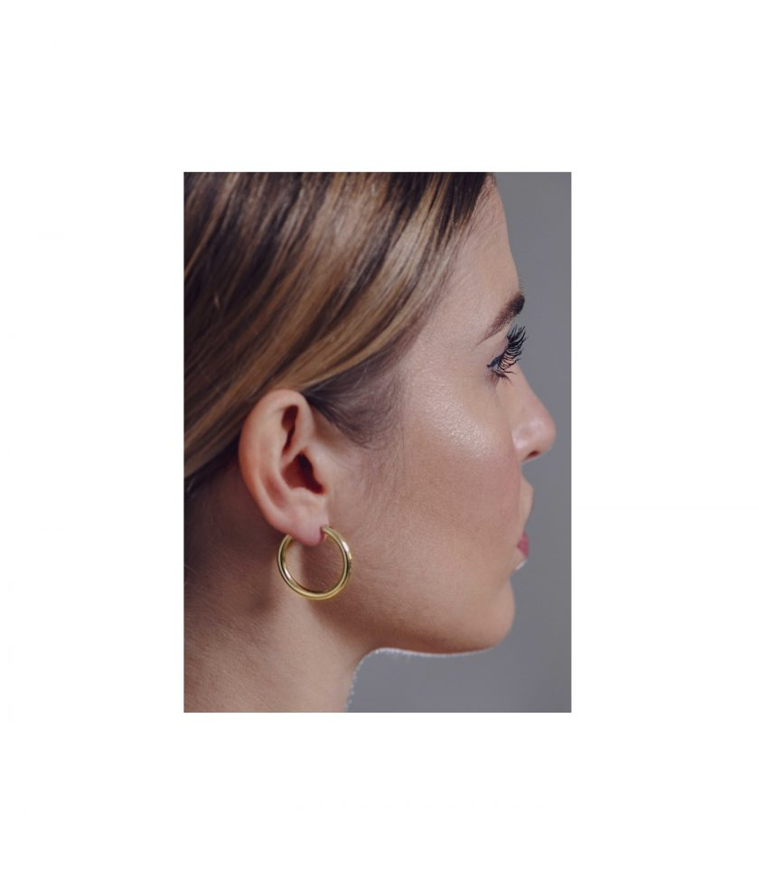 Hoop Earrings Orecchini Cerchio Leggeri Light 18kt 1,15g Made In Italy Italia