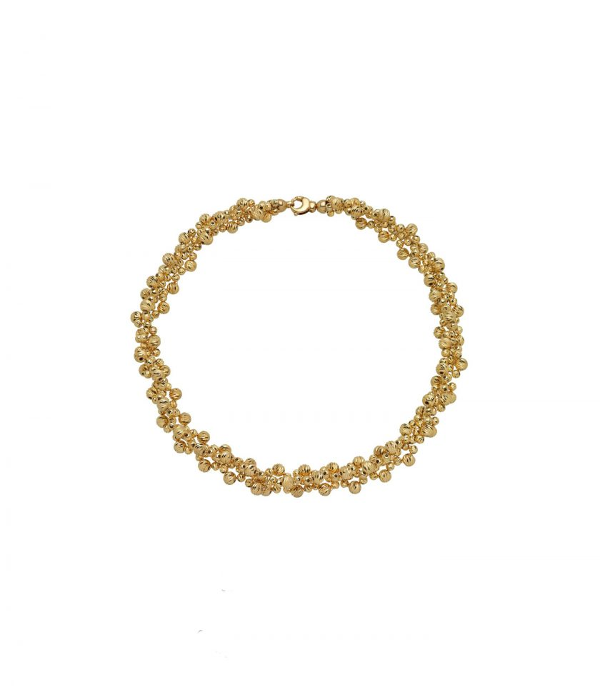 Necklace 18kt Gold Italy Handmade Quality Beads.diamondcution (1v)4d6gdg Cl